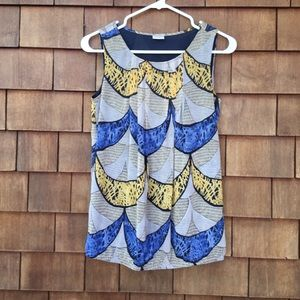 Esprit Sleeveless Summer Top Blue Sz 4
